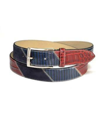 cintura uomo sportiva patchwork moda made in italy